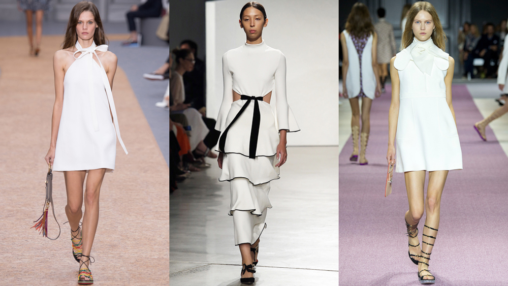 To anyone who does their own laundry, wearing white  can be more of a burden — reserved for certain days of the month and during meals that don't require sauce — than an assured style statement. But by taking cues from the spring 2016 runways, and some key street stylers, everything can be all-white. Click through to see how.