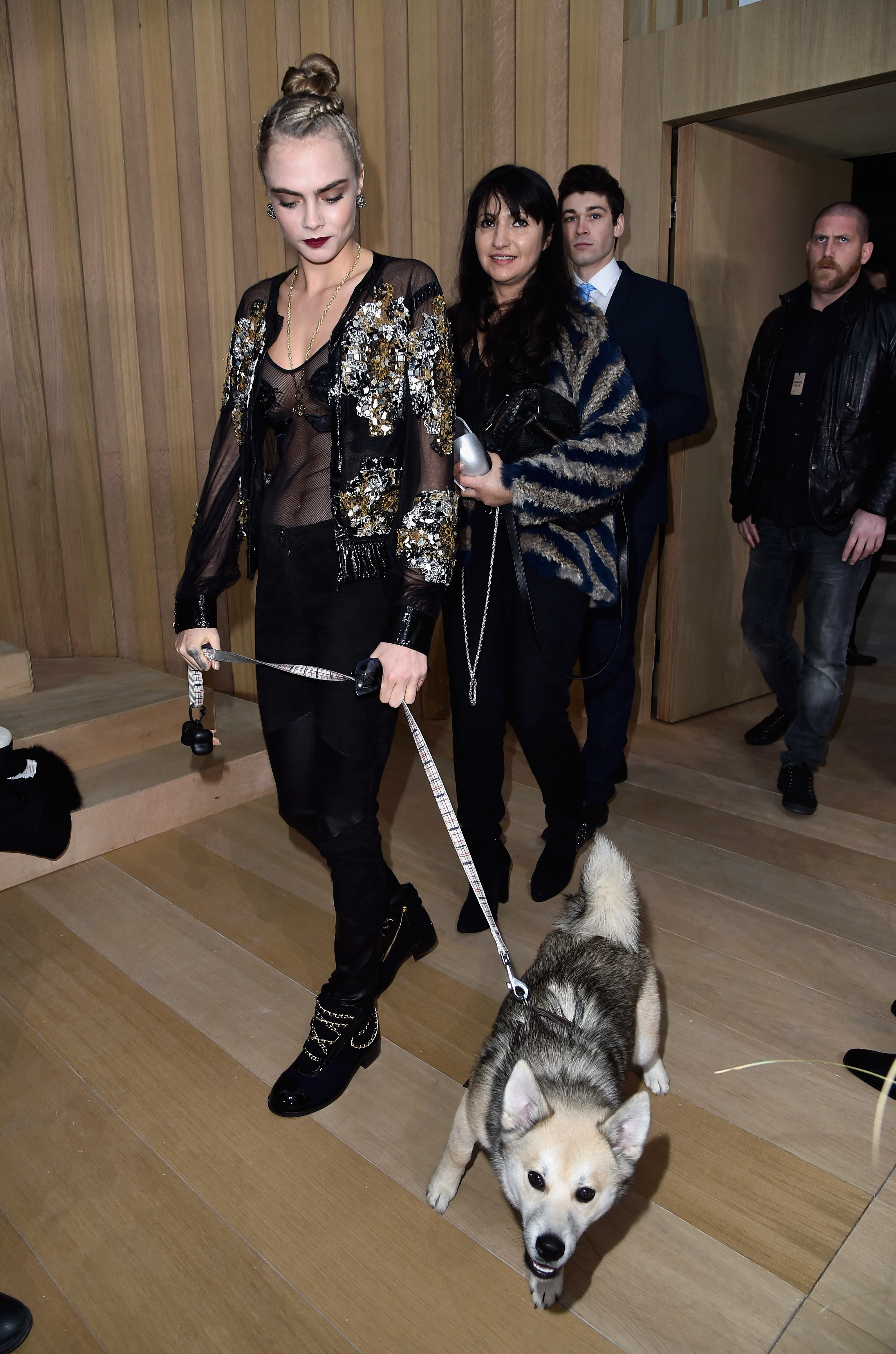 <p>Few spectacles are as elegant as guests gathering for a Chanel show, and the haute couture spring/summer 2016 collection was no exception.<br /><br />Diane Kruger, Gwyneth Paltrow, Inès de la Fressange and Clémence Poésy sat alongside bright young things Ellie Bamber and Alma Jodorowsky, but the guest who made the biggest impression was Leo, Cara Delevingne's excitable puppy.<br /><br />Not only was he granted the privilege of a front row seat, but the pup also got taken backstage. </p><p>No word yet on how Choupette felt about having to share Karl's affections. </p>