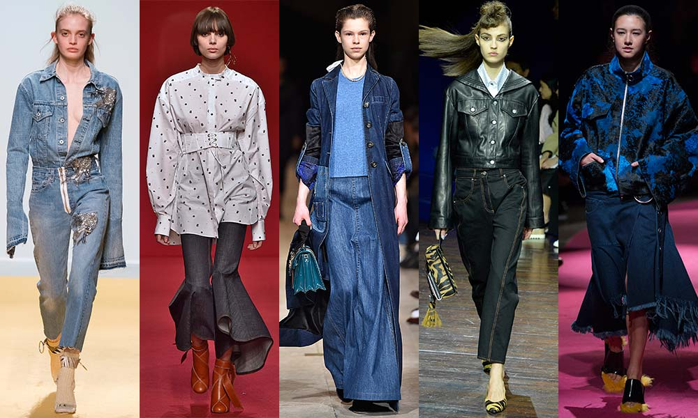 From sculptural flares to hand-finished embellishment, the                                                                 humble jean has been refreshed and relocated into demi-couture territory thanks to the autumn/winter 2016 shows.