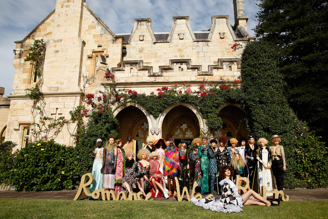 Romance Was Born celebrated 10 years in style this morning at the stately home of gallery owner Roslyn Oxley. Amongst the antique furniture and Bill Denson prints walked a parade of ladies-who-lounge in exquisite demi couture creations. Click through to see the intricate details.