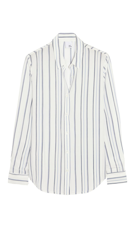 <p>The stripe shirt</p>