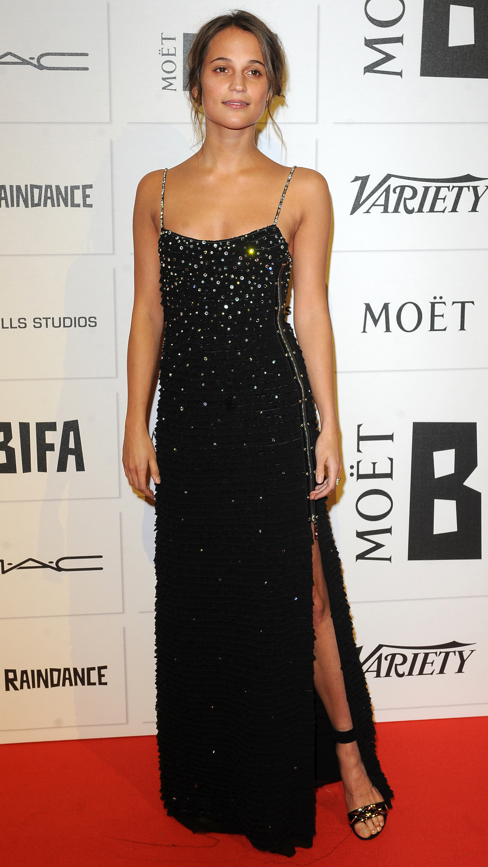 "The attendees of this year's British Independent Film Awards clearly got our <a href=""http://honey.ninemsn.com.au/2015/11/27/15/04/sequin-and-glitter-party-dresses-tops-skirts-and-jumpsuits"" target=""_blank"">party dressing memo</a>, because sequinned and metallic gowns ruled the red carpet. Click through to see all the looks, and take some inspiration for a Saturday night spent dancing to Ms Houston."