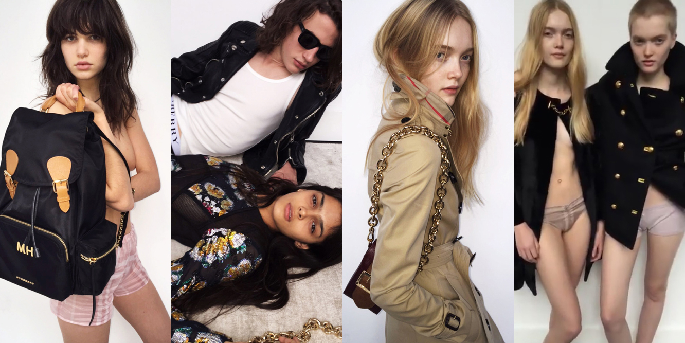 "<p>We got a fleeting look at Burberry's SS16 campaign when the Mario Testino-shot affair appeared on the brand's Snapchat back in October (If you missed the pics, we filed them under 'dream campaigns', <a href=""http://honey.ninemsn.com.au/2015/10/26/08/21/mario-testino-burberry-snapchat-new-campaign/"" target=""_blank"">here</a>). Now, select images from the campaign have been released, with more fresh faces than you can poke a monogrammed Burberry backpack at, including the son of a <em>James Bond</em> lead, and modelling's most in-demand twins. Get to know who's who with our cheat sheet.</p>"