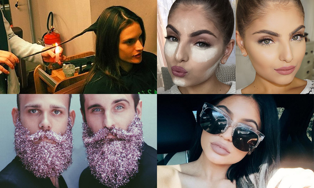 2015 really pushed the envelope when it came to experimental beauty. From DIY lip plumping to underarm microwaving, we look back at the 10 most daring trends to emerge  this year.