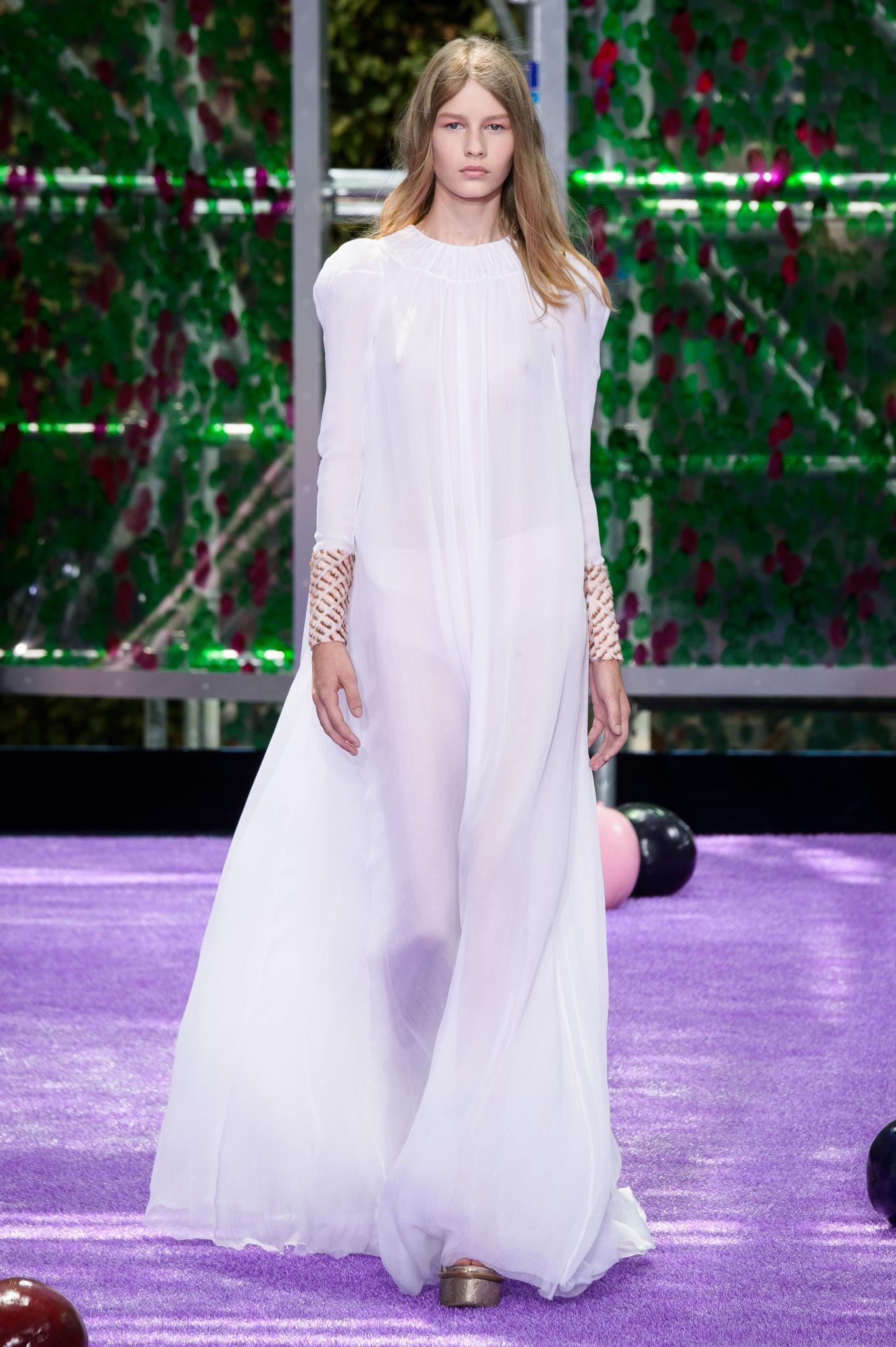<p>Held in a custom-made kaleidoscope-like venue in Paris, Raf Simons' latest Dior collection showcases lust-worthy coats, glittery platforms and sheer delights.</p>