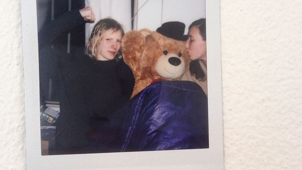 Julia Nobis' teddy bear is our new spirit animal