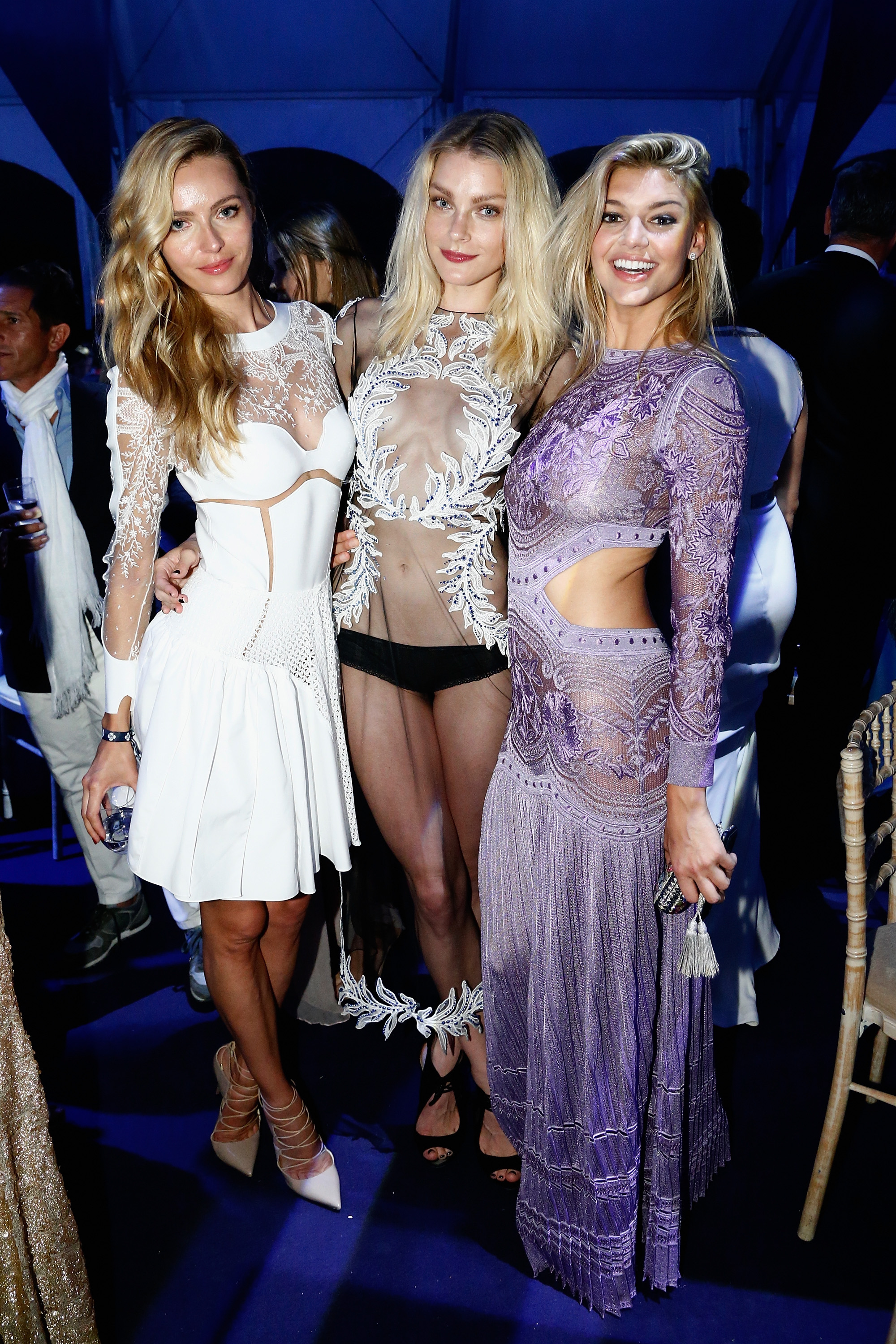 <p>If you thought (or hoped) the sheer trend was beginning to fade, think again. As the supermodels who attended Leonardo DiCaprio's charity dinner and auction overnight in St Tropez proved, less continues to be more. Click through to see all the sheer delights. </p>