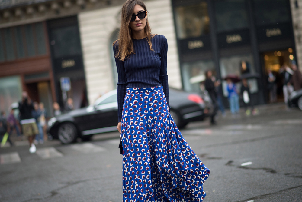 Maxi skirts: not just for summer