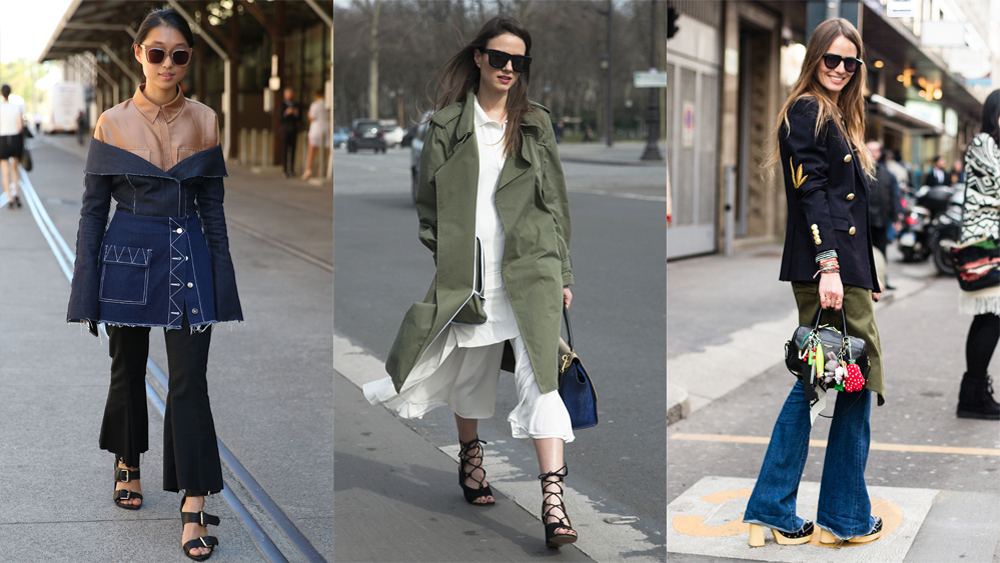 How to wear a skirt over pants