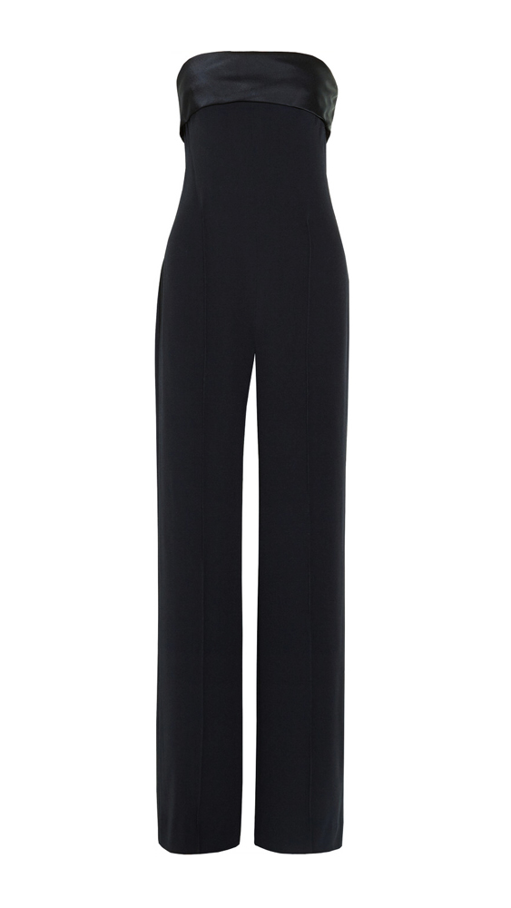 "<p>Party wear for those chilly nights when all you want to do is stay home.</p><p><a href=""http://www.theoutnet.com/en-AU/product/Adam-Lippes/Satin-trimmed-crepe-jumpsuit/401876"" target=""_blank"">Satin-Trimmed Crepe Jumpsuit, approx. $720, Adam Lippes at theoutnet.com</a></p>"