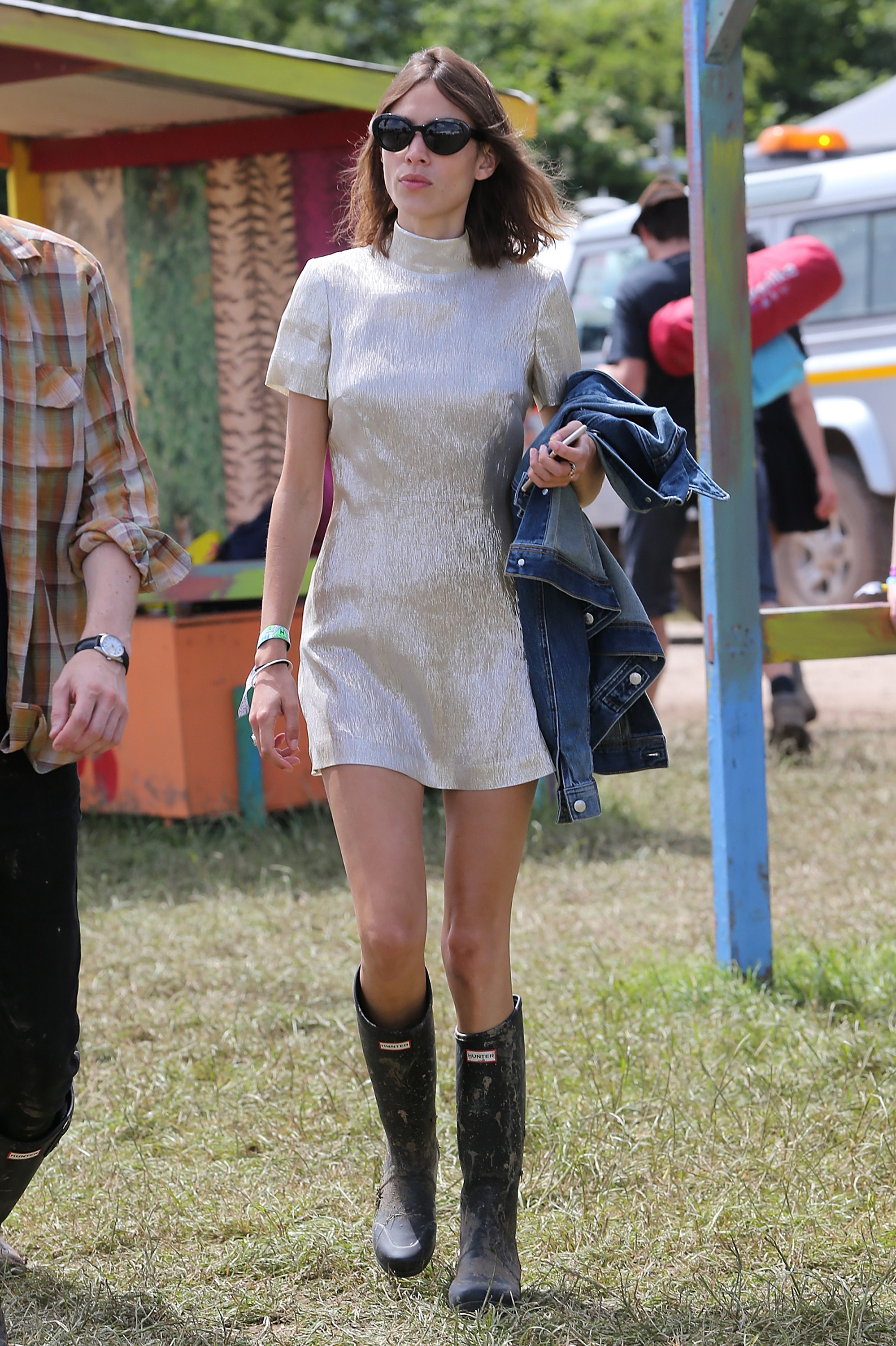 Jumpsuits Gumboots And Denim Cut Offs Welcome To Glastonbury Fashion