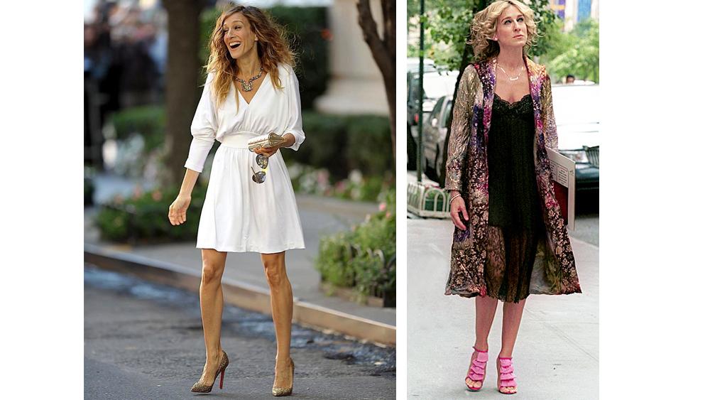 carrie bradshaw pink christian louboutin heels | Landenberg ...