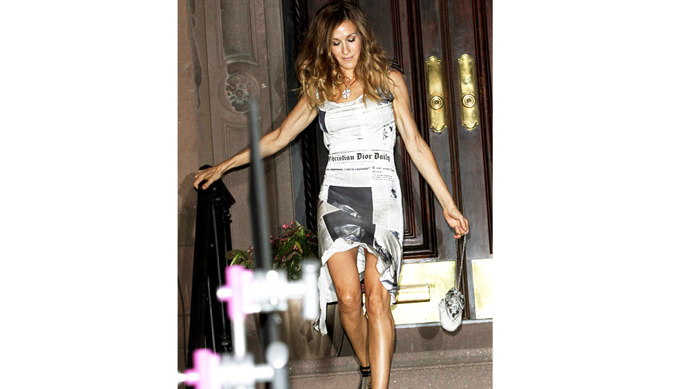 Carrie Bradshaw newspaper dress