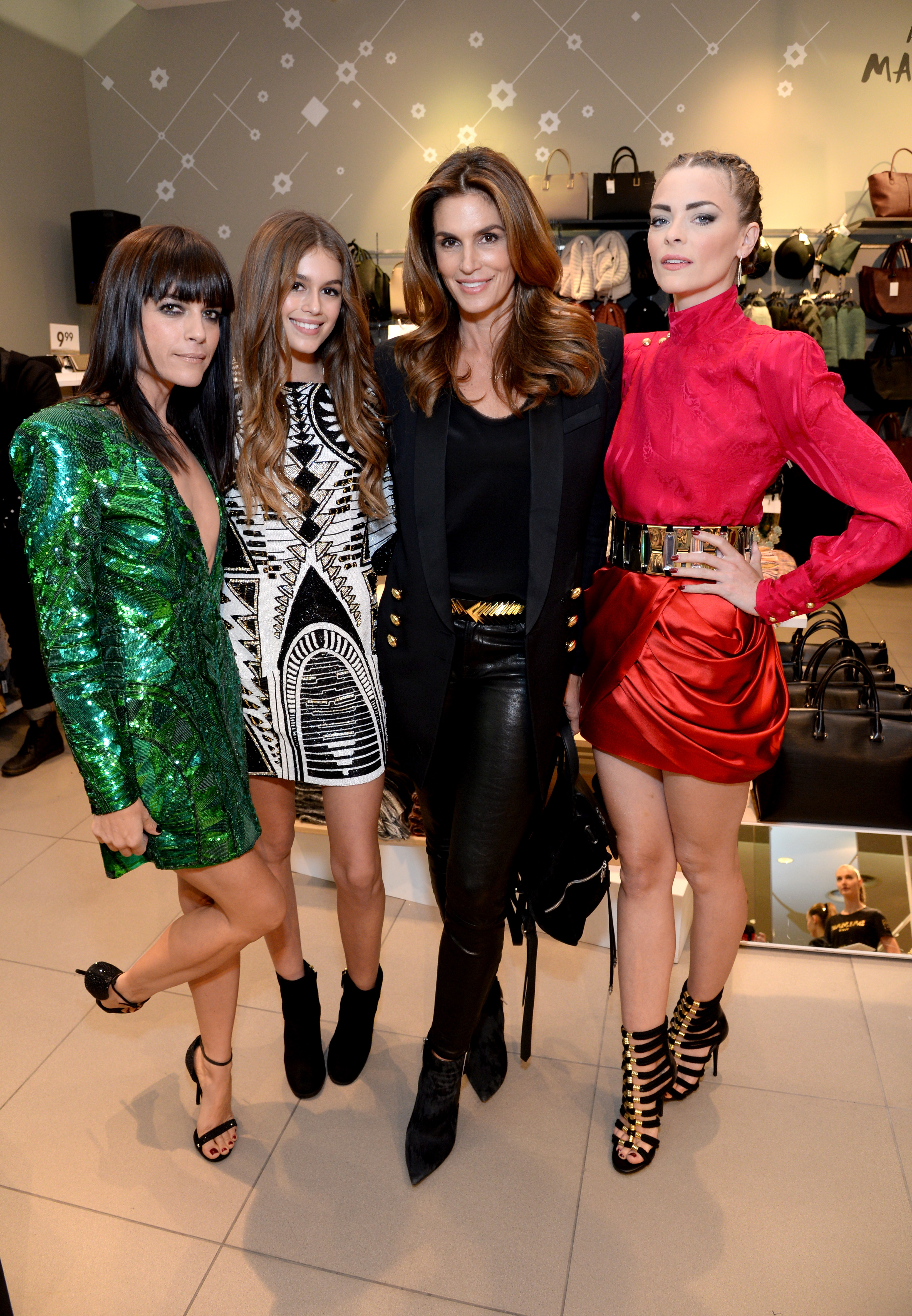 So sought after was the Balmain x H&M collection that even stars (dressed head-to-toe in Balmain) found themselves poring over the racks at the Los Angeles pre-launch party overnight. Check out who got a piece of the sold-out range.
