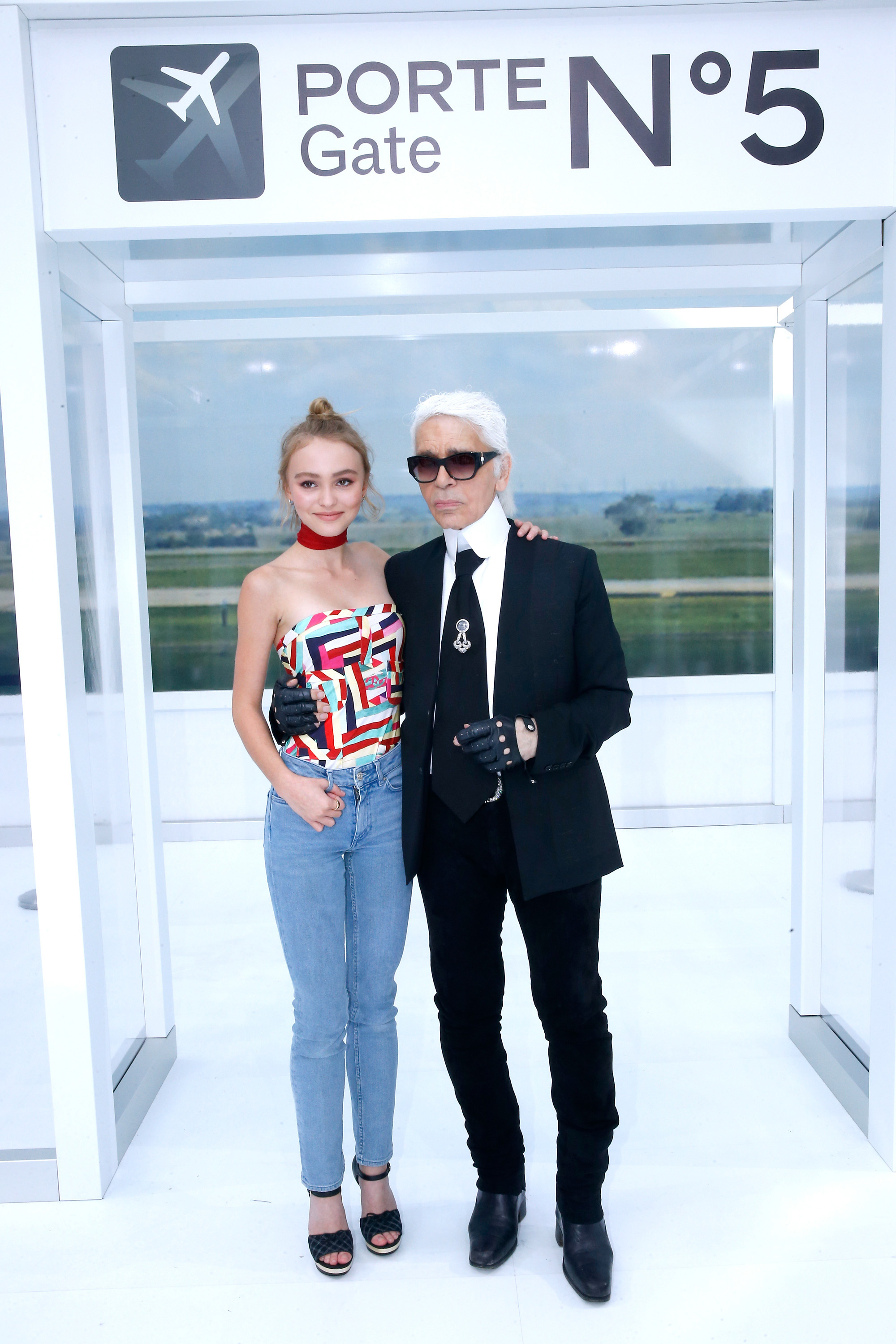 <p>To showcase Chanel's Spring/Summer 2016 collection, creative director Karl Lagerfeld sent fashion soaring, turning Paris' Grand Palais into an airport terminal complete with baggage check, numbered gates, baggage carts and a departures and arrival board.</p><p>Those checking into the front row included Chanel muses Lily-Rose Depp, Vanessa Paradis, Cara Delevingne, Courtney Eaton and more. Click ahead to see airport style at its finest.  </p>