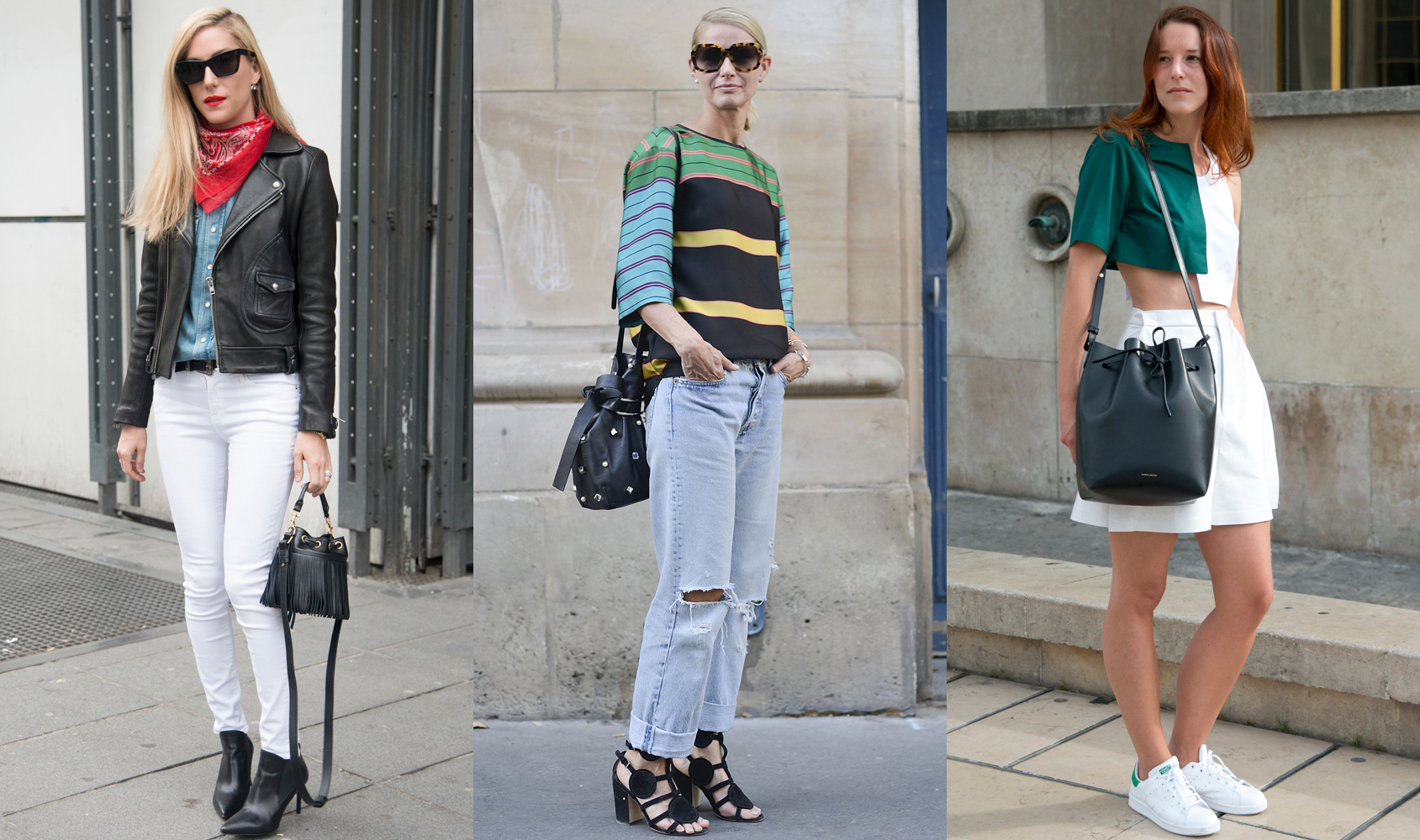 A couple of years ago, the bucket bag arrived on the scene at the hips of street stylers and cool girls alike, and quickly became the 'It' bag it was never trying to be. Thanks to equal parts weekend-perfect versatility and office-approps polish, it's now a solid fashion fixture. Here are the ones to add to your bucket list.