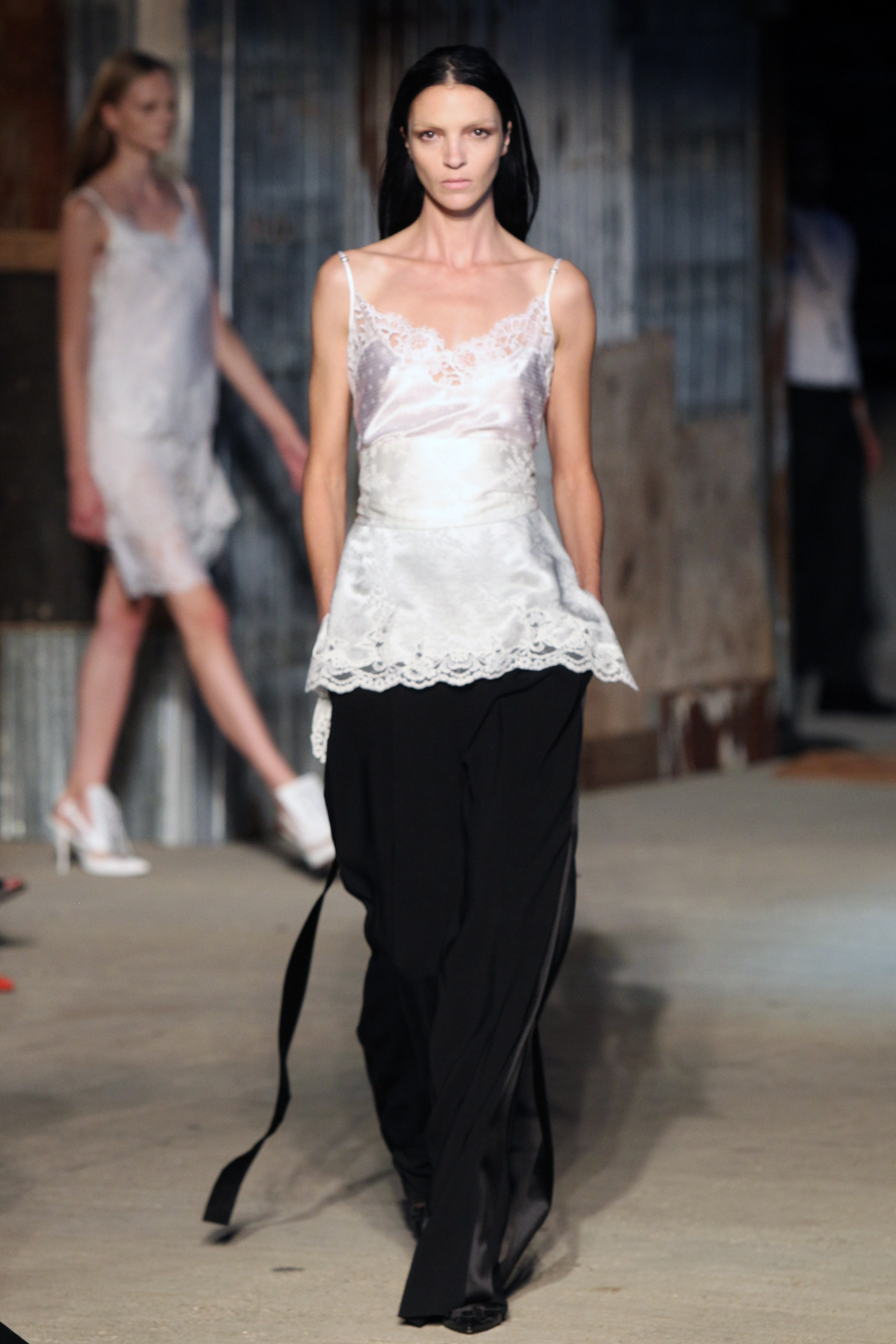 With creative director Riccardo Tisci deciding to show in New York instead of the label's home turf in Paris, Givenchy quickly become the most anticipated show at fashion week and it didn't disappoint. The monochromatic palette, feminine silhouettes and beautiful silk drapery will have you falling in love again and again and again.