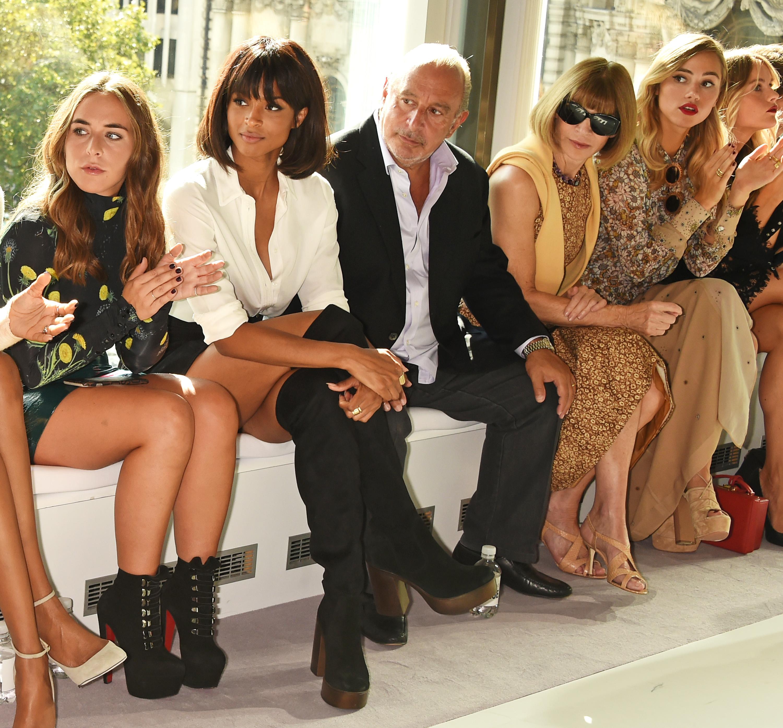 Chloe Green, Ciara, Sir Philip Green, Anna Wintour and Suki Waterhouse.