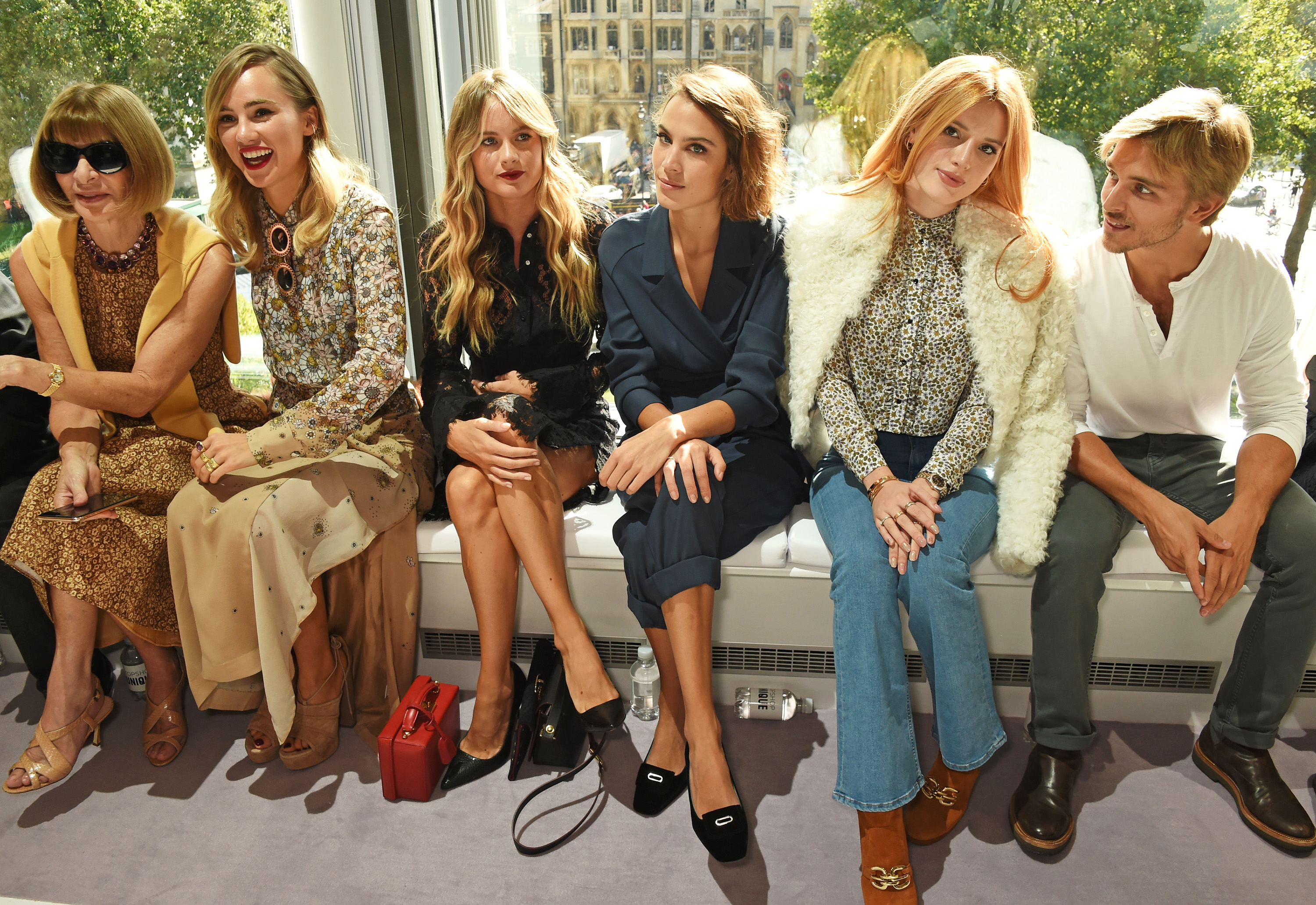 """Being the home of Brit cool, the Topshop Unique runway never fails to attract a swarm of English It girls. From Suki Waterhouse to Alexa Chung this front row rivals<a href=""""http://honey.ninemsn.com.au/2015/09/17/07/43/backstage-at-yeezy-by-kayne-west"""" target=""""_blank"""">Kanye's when it comes to style powerhouses</a>."""