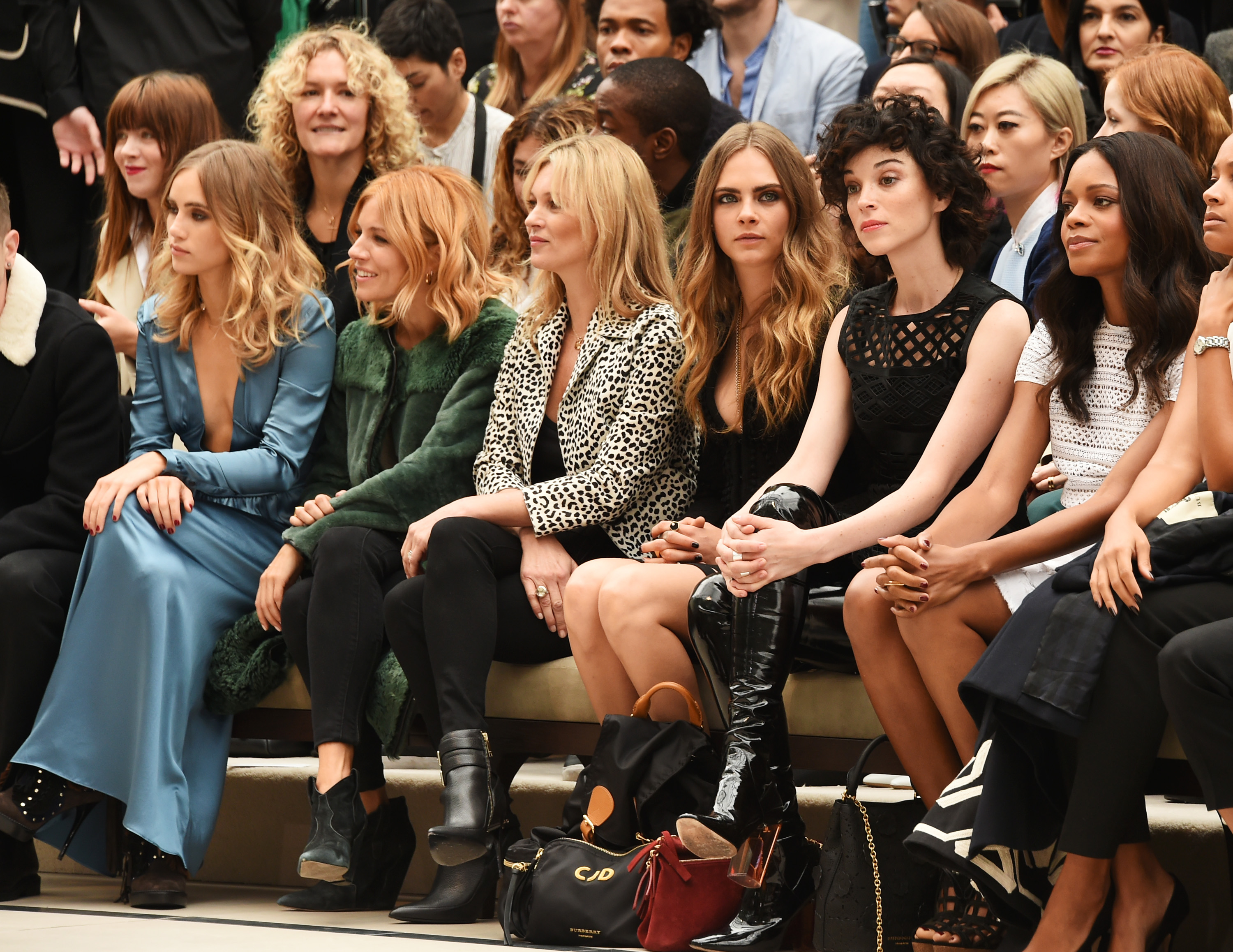 Proving its worth as the hottest ticket in London, Burberry Prorsum produced a front row of an all-star line-up complete with the best the Brits have to offer – trenches, a Bond girl and, of course, Kate Moss.