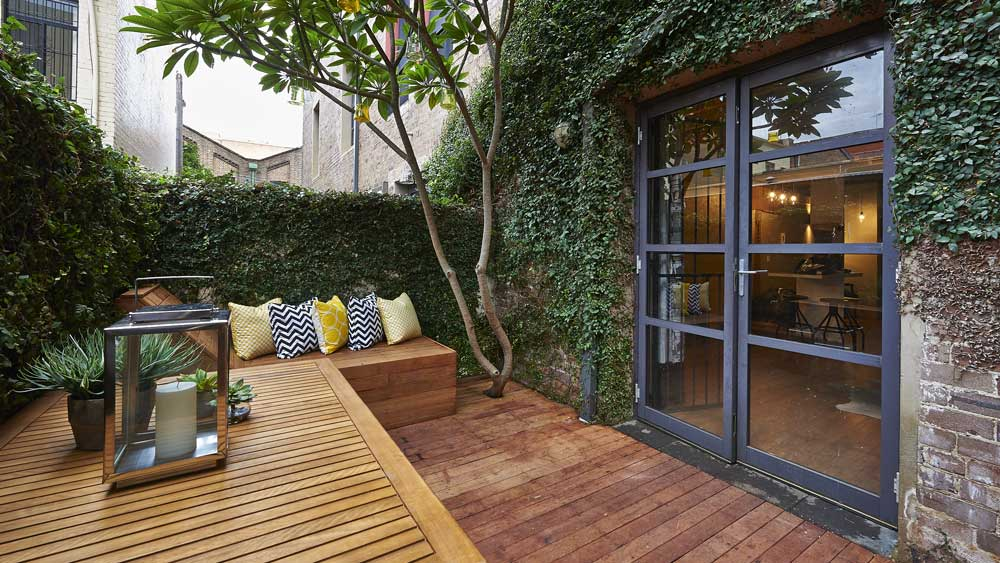Chippendale studio terrace. Image: Supplied, Cherie Barber