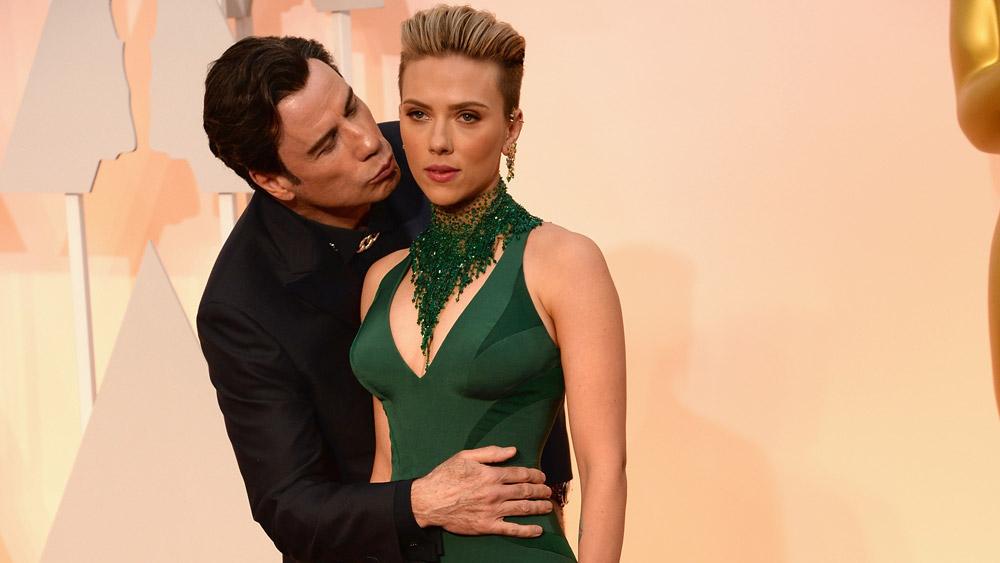 John Travolta and Scarlett Johansson