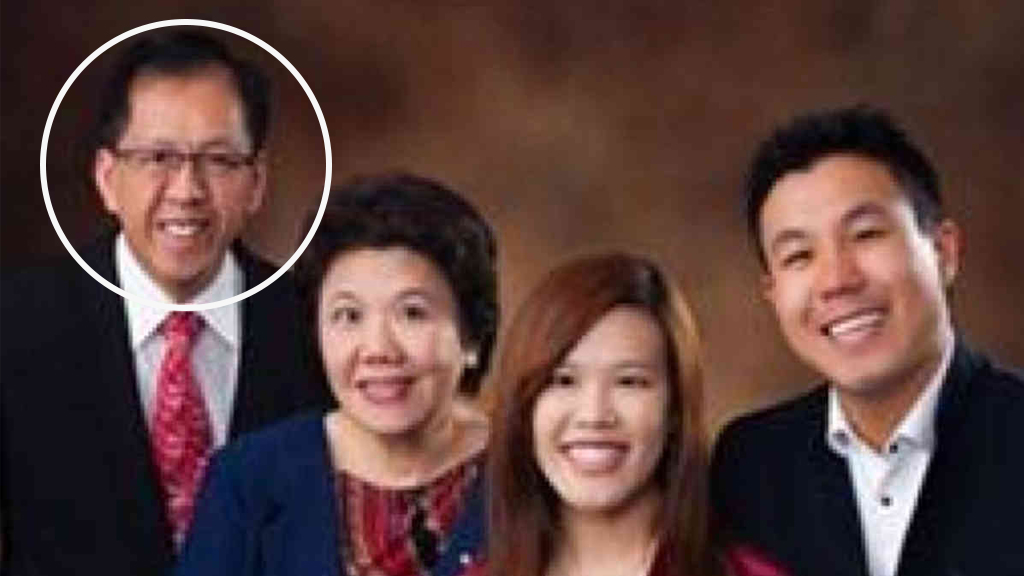 Curtis Cheng (circled) was shot dead outside a police building in Parramatta.
