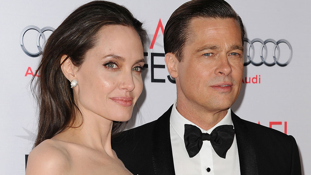 Angelina Jolie and Brad Pitt in happier times.