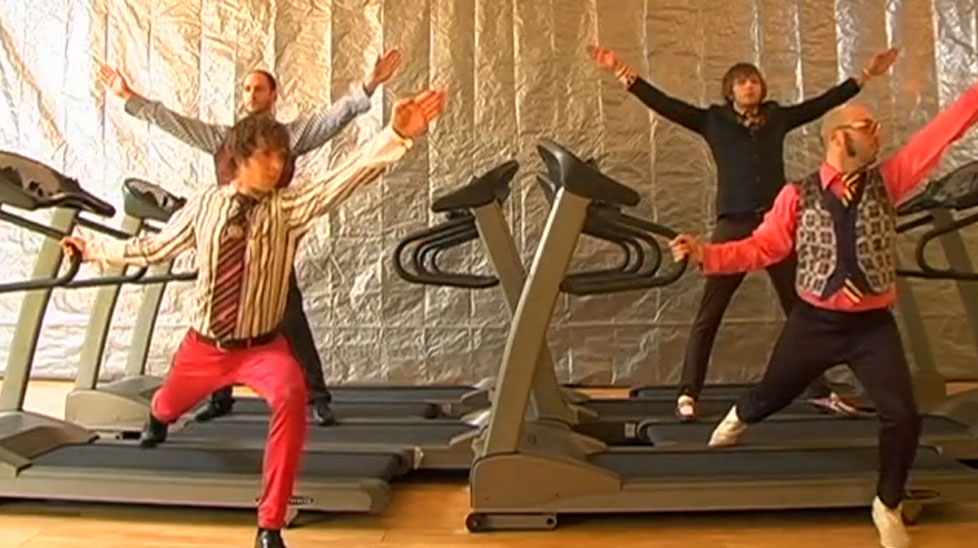 OK Go's video clip 'Here it goes again'.