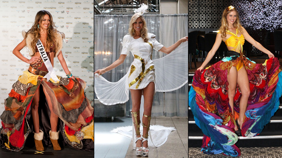 The costumes for Miss Universe Australia 2010, Miss Universe Australia 2012 and Miss Universe Australia 2011.
