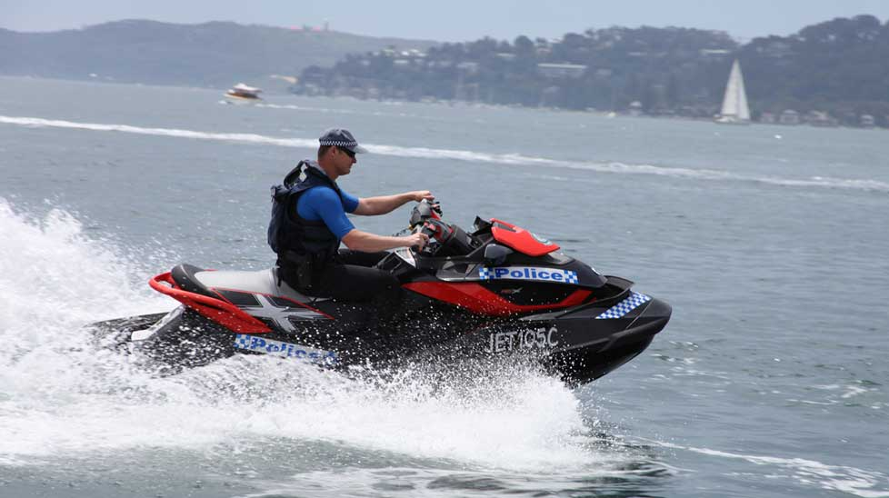 One of the jet skis from the new police squadron.