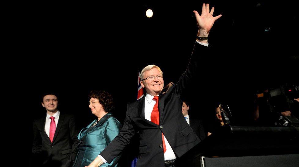 Elected as one of the most popular prime ministers Australia had ever seen, Kevin Rudd's political career was a mixture of achievements, controversy and dramatic leadership squabbles. (AAP)