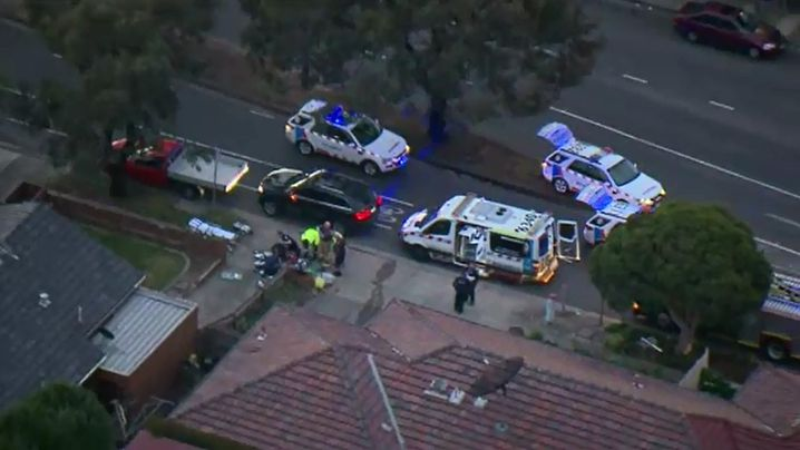 The man stabbed to death is believed to be aged in his 70s. (9NEWS)