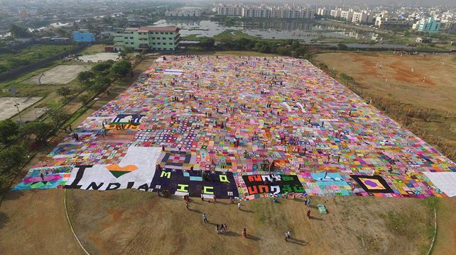 Biggest ever blanket created in India