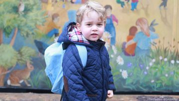 Prince George on his first day at nursery. (Duchess of Cambridge)