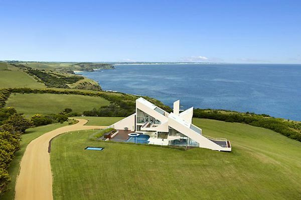 The architecturally-designed home is for sale with Kay and Burton.
