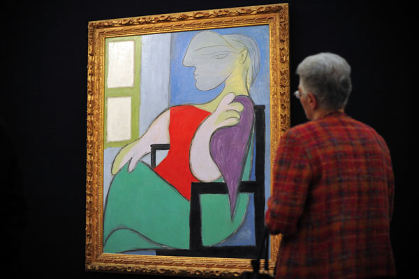 """Picasso's 1932 work """"Femme assise pres d'une fenetre"""" . (Getty)"""
