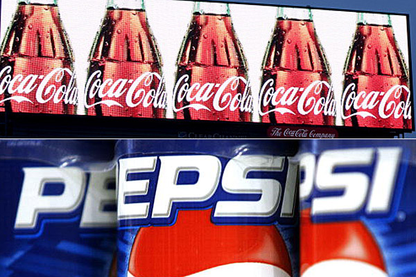 Coca-Cola and Pepsi logos