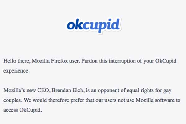 OkCupid screenshot