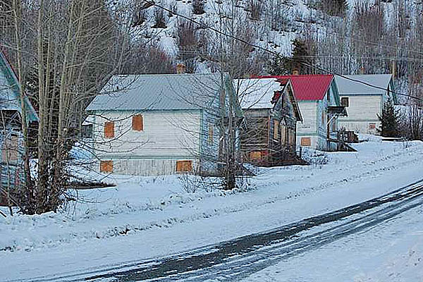 Some of the houses in Bradian's ghost town.