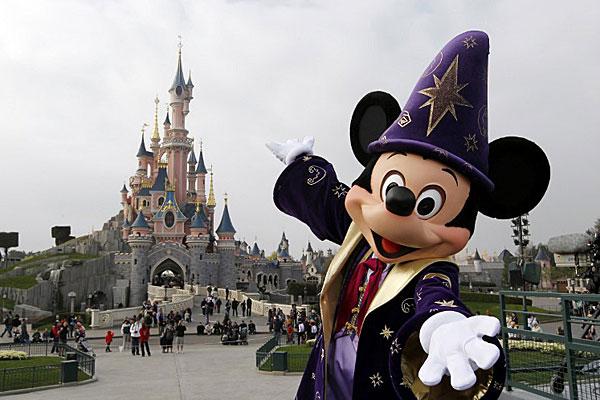 Financial woes: Euro Disney theme park.