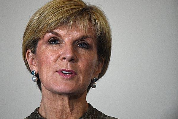 Foreign Minister Julie Bishop. (AAP)