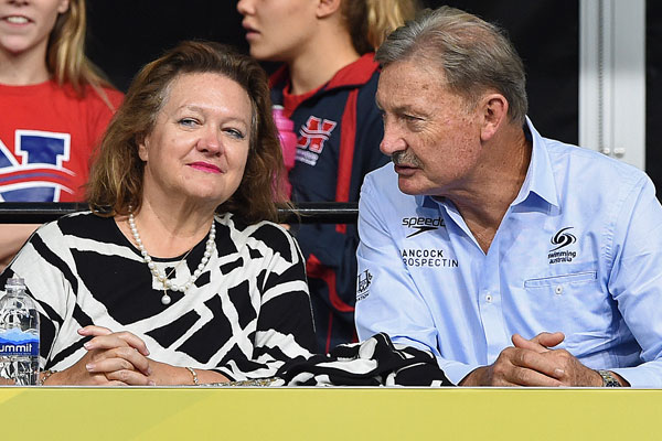 Gina Rinehart (left) ranked the world's 51st most powerful woman by Forbes (AAP)