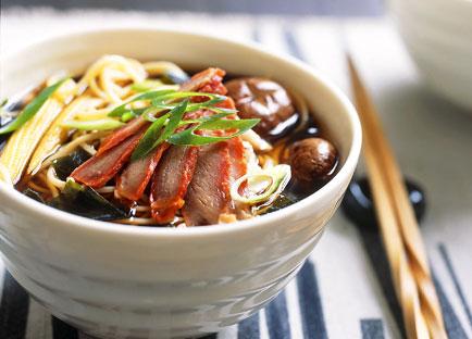 Crab, cha siu and corn ramen