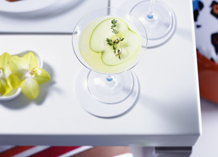 Vanilla, Apple and Thyme Martinis