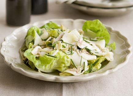 Shaved artichoke, butter lettuce and fontina salad