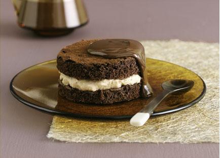Chocolate chestnut cakes