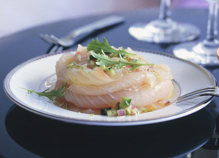 Kingfish with fennel and lime salt