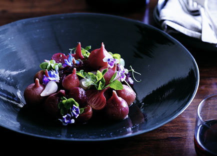 Salad of roasted pink beetroot