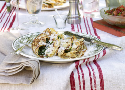 Ricotta and spinach crespelle